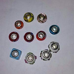 925 silver murano glass bead